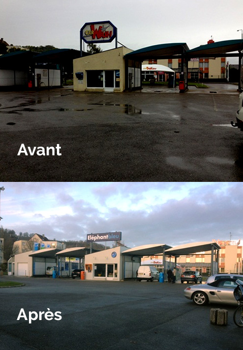 Transformation centre de lavage de Laon